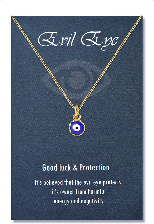Dainty Evil Eye Heart Protection Bracelet is a Great Gift For Her Gift For Women 14k Gold Blue Evil Eye Chain Bracelet with Heart Charm
