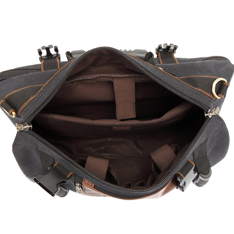 Mochila de Senderismo Piel al Aire Libre Mochila Excursion Multifuncional Bolsa Mochila para Hombre Mujer 22L Caqui