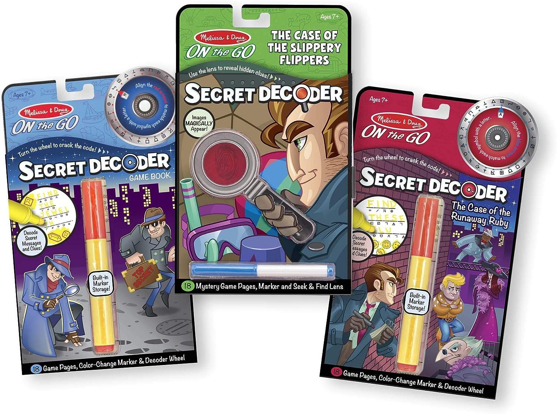 Melissa & Doug On the Go Secret Decoder Activity Books Set - 54 Games