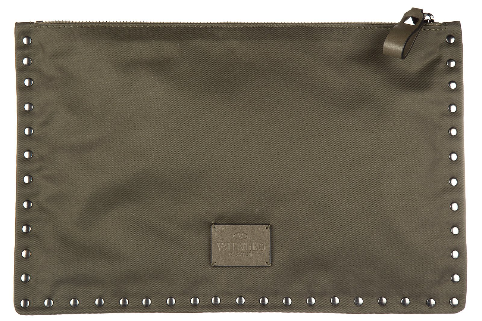 Valentino men's travel document passport case holder green