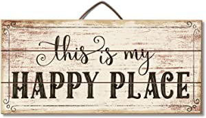 Highland Home This is My Happy Place Slatted Pallet Wood Sign Made in The USA