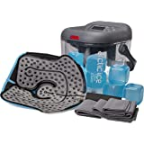 Circulating Cold Water Therapy Kit by Arctic Ice Clear – Ice Machine with Universal Pad 3-Strap Wrap and 6 Cold Cubes…