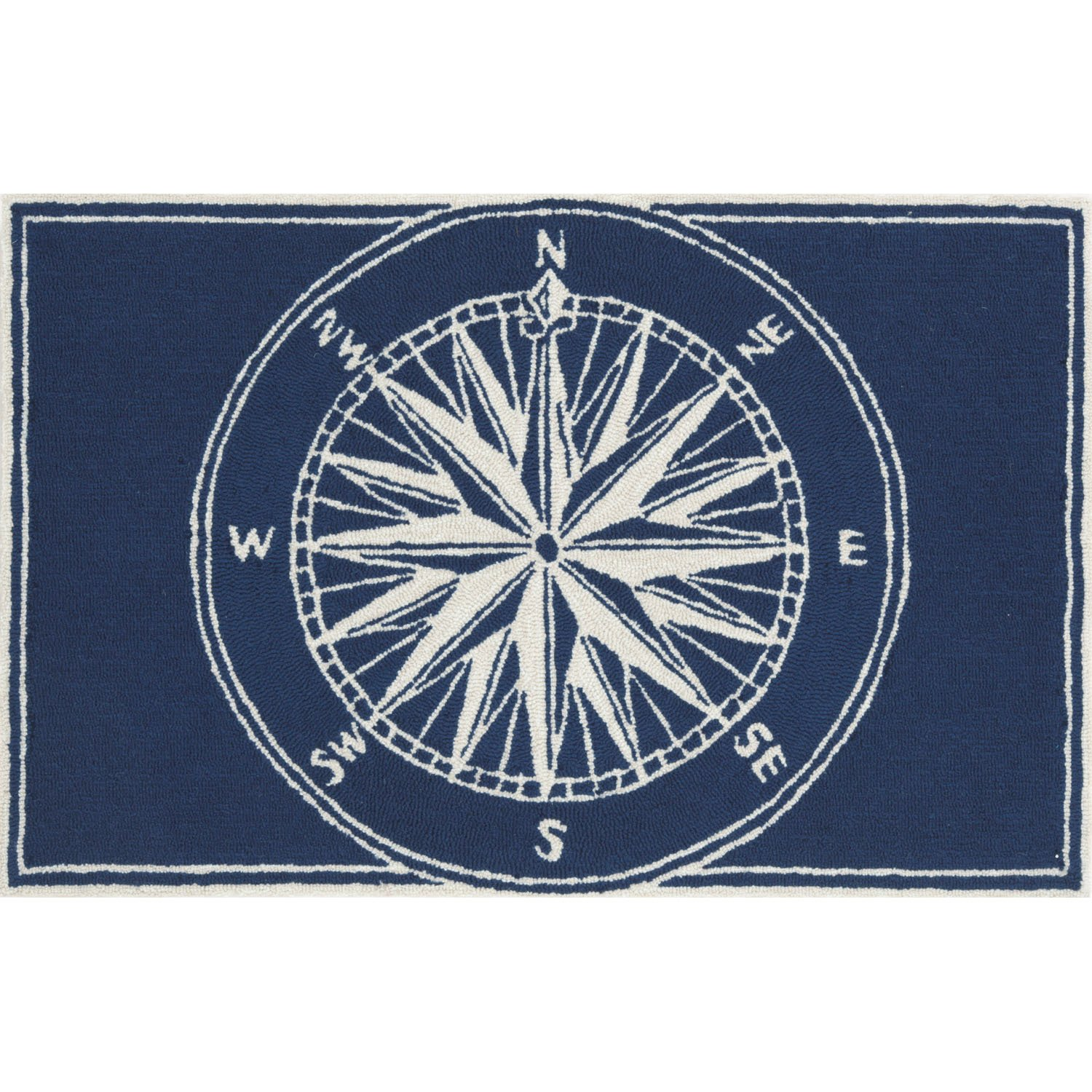 Liora Manne FT112A51033 Whimsy Sphere Rug, Indoor/Outdoor, 20'' x 30'', Navy