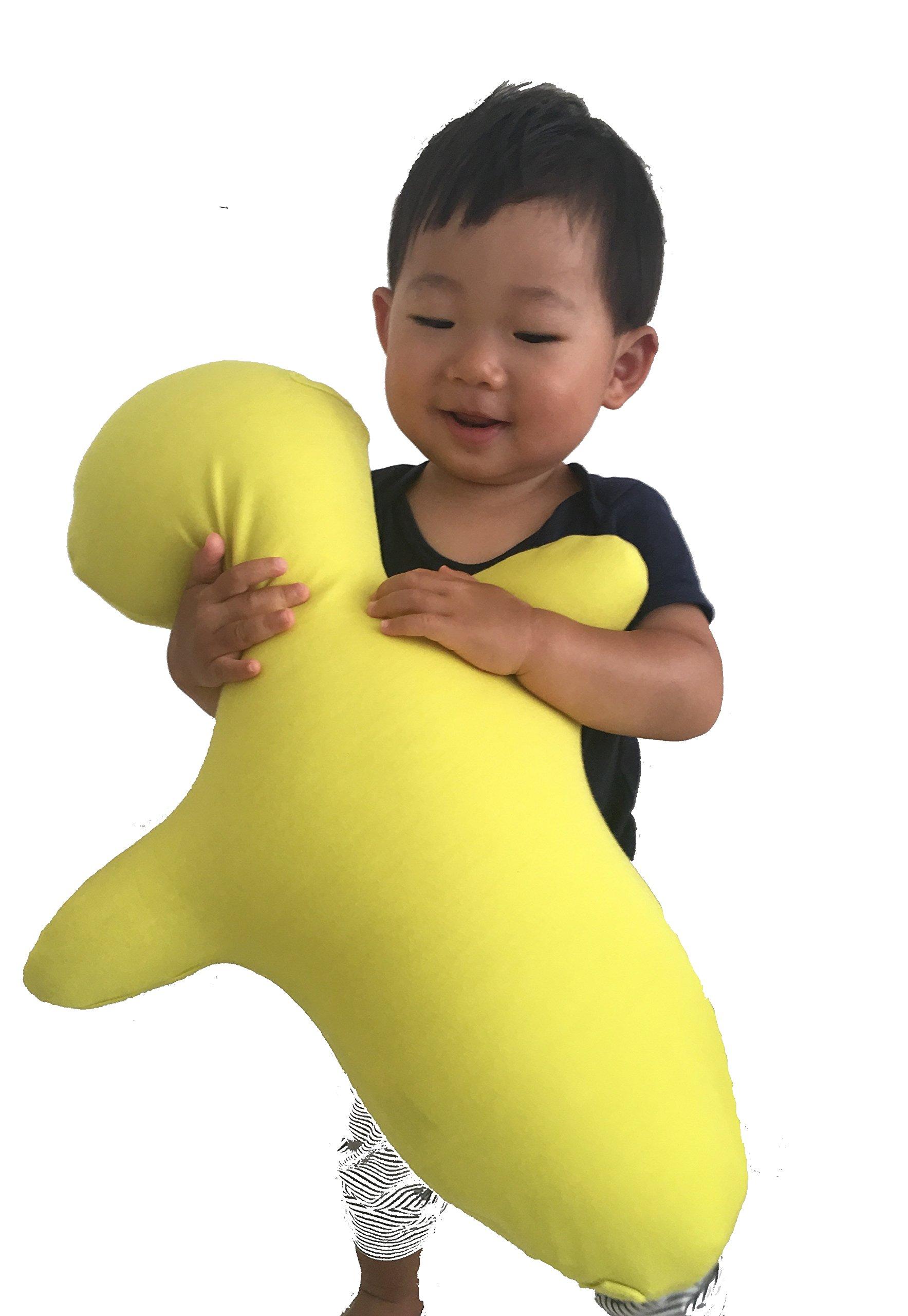 Kyoto Nishikawa Hugvie Huggable Communication & Relaxation Body Pillow (Yellow, Kids)