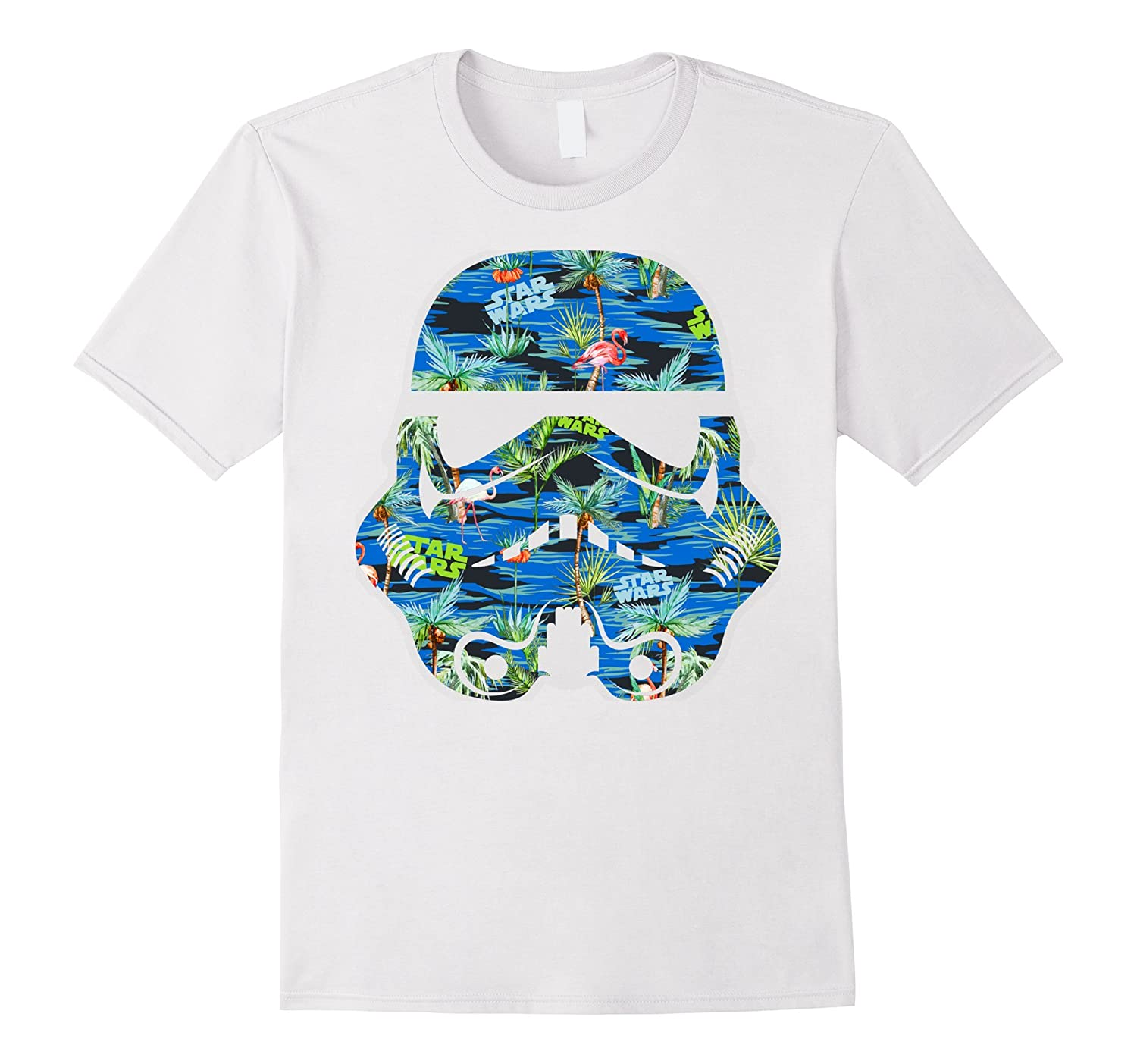 Star wars stormtrooper hawaiian print helmet graphic t for Hawaiian graphic t shirts