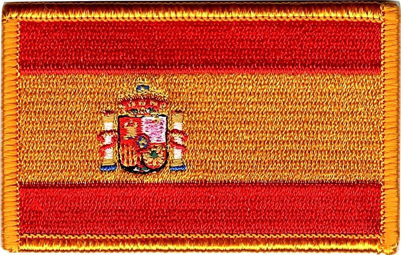 Titan One Europe - Bandera De España Parche Bordado (Termoadesivo): Amazon.es: Coche y moto
