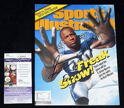 JEVON KEARSE quot FREAK quot  Signed SI Sports Illustrated TITANS + COA  V26452 - JSA Certified 6dab8e43b