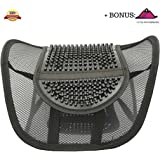 Lumbar Mesh Back Support by FOMI Care | For Car, Office Chair, Home | Alleviates Lower Back Pain, Promotes Healthy Posture, Corrects Spinal Alignment | Breathable, Massage Beads for Ultimate Comfort