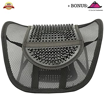 FOMI Lumbar Mesh Back Support for Car and fice Chair Alleviates Lower Back Pain