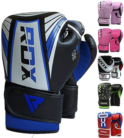 RDX Boxhandschuhe Kinder Muay Thai Boxsack Training Sparring Kickboxen Sandsack Junior Maya Hide Leder Boxing Gloves (MEHRWEG