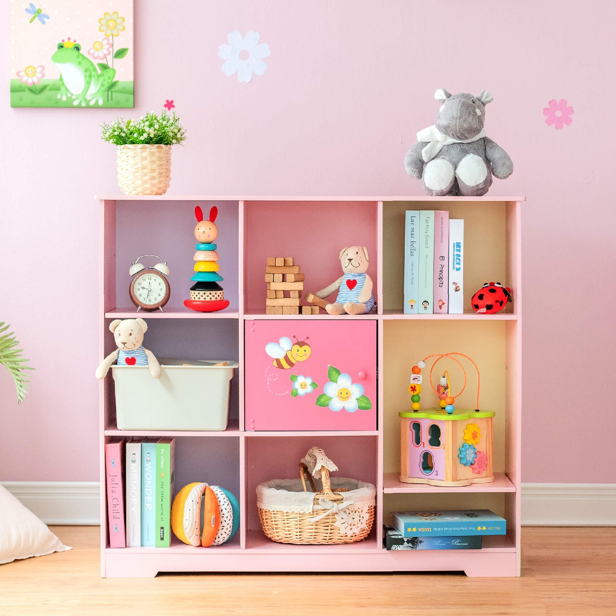 Fantasy Fields - Magic Garden Adjustable Cube Bookshelf, 9 Cube Storage Bookshelf by Fantasy Fields