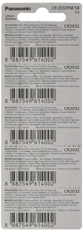 Pack of 10 Panasonic Cr2032 3v Lithium Coin Cell Battery Dl2032 Ecr2032 10 pcs -