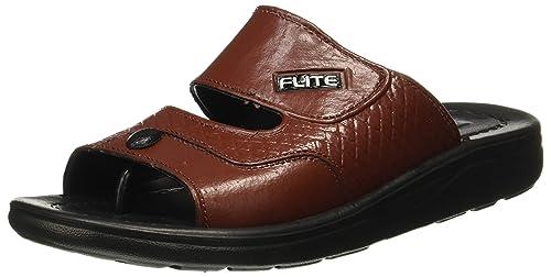 d761c137cb685 FLITE Men s Black Brown Flip Flops Thong Sandals - 6 UK India (39.33 EU