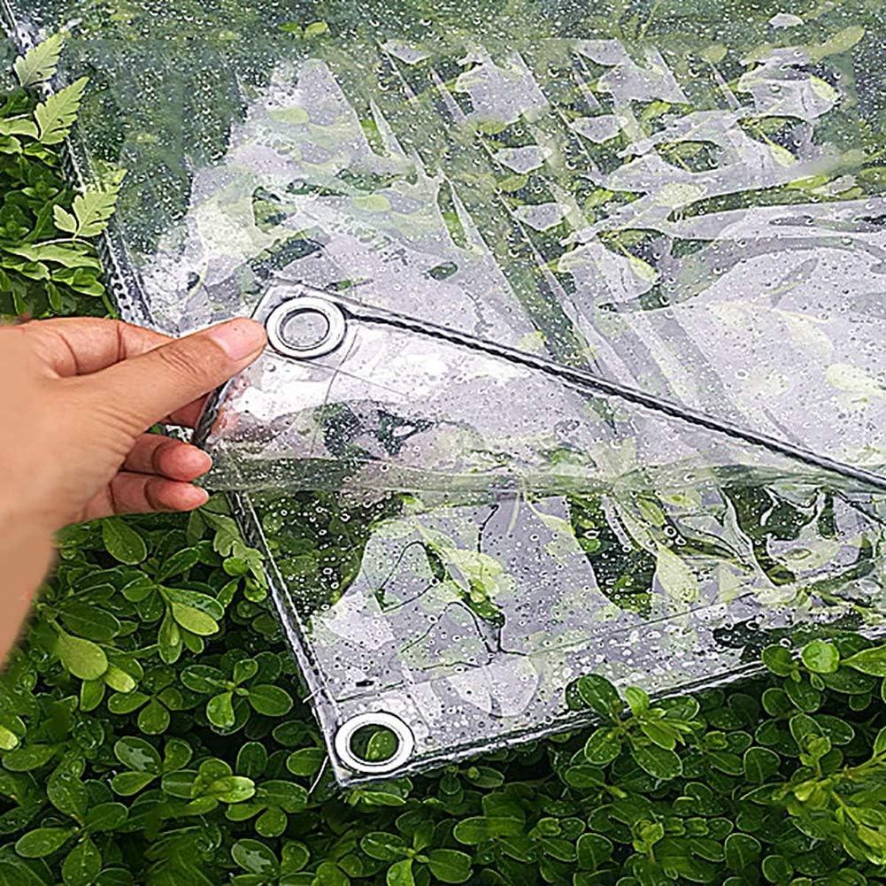 ABMOS Lona de Cubierta Lona de toldo de PVC Impermeable Transparente