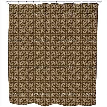 Uneekee Trion Beach Coffee Shower Curtain Small Waterproof Luxurious Bathroom Design Woven Fabric