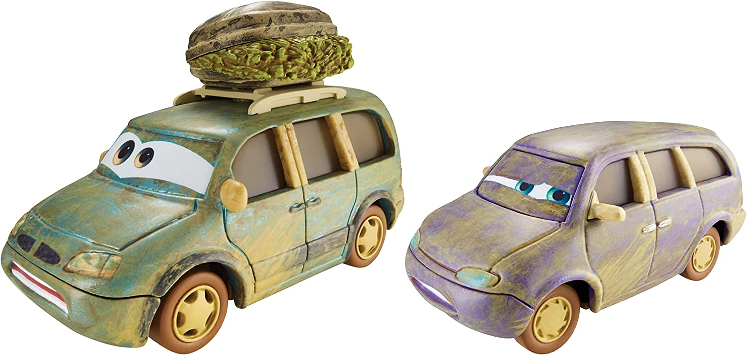 Cars 2 - Pack 2 Coches, Color Verde y marrón (Mattel CDP72 ...