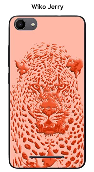 Carcasa Wiko Jerry - Lenny 3 Design Jaguar rosa naranja ...