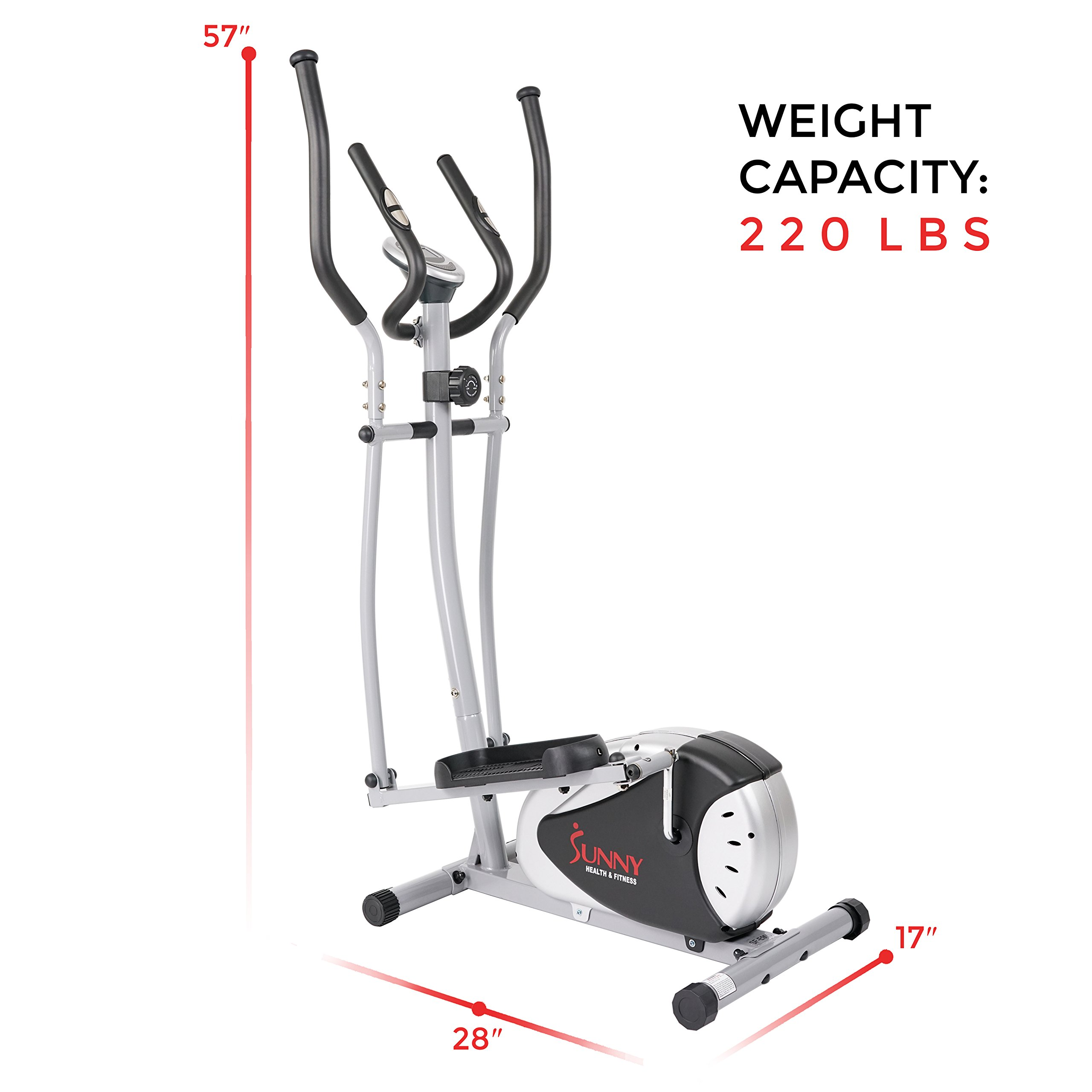 Magnetic Elliptical Machine Trainer by Sunny Health & Fitness - SF-E905 by Sunny Health & Fitness (Image #18)