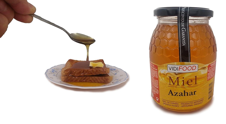 Miel de Azahar - 1kg - Producida en España - Alta Calidad, tradicional & 100% pura - Aroma Floral Intenso y Sabor Fuerte y Dulce - Amplia variedad de ...