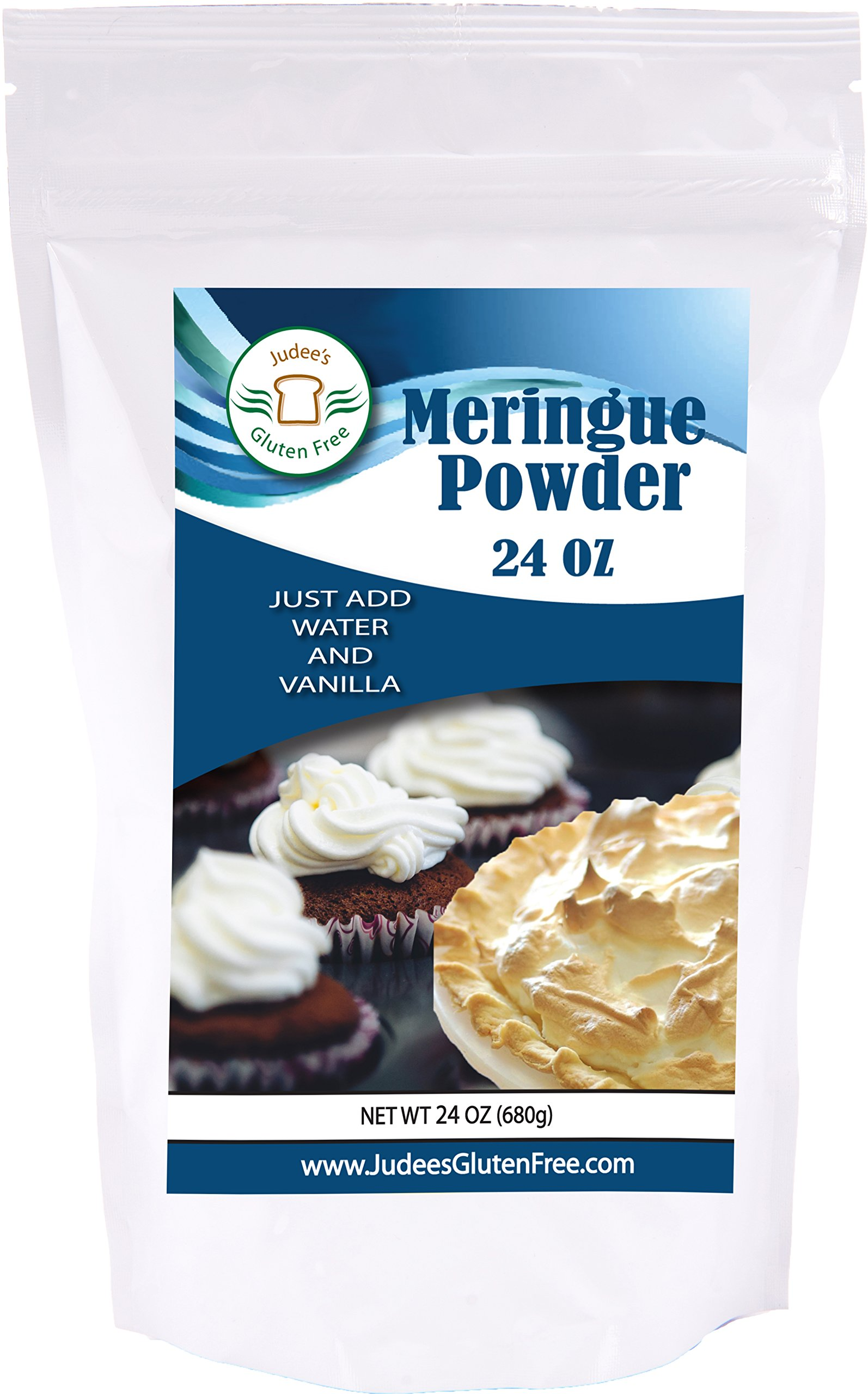 Meringue Powder (24 Oz): No Preservatives: ideal for Cookies, Pies, and Frosting: Made in the USA in a Dedicated Gluten and Nut Free Facility