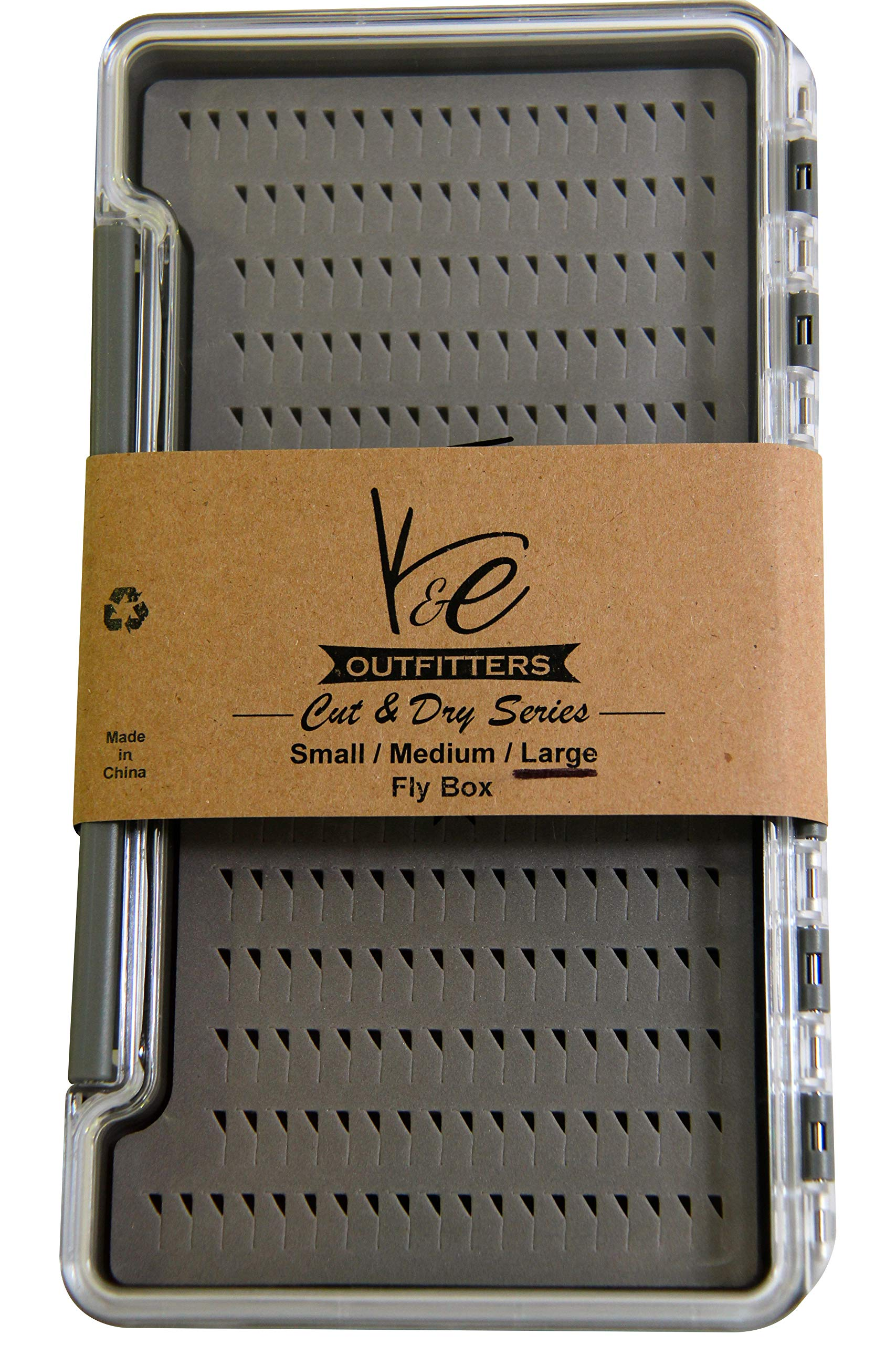 K&E Outfitters Cut and Dry Series Fly Fishing Fly Box (Large) by K&E Outfitters