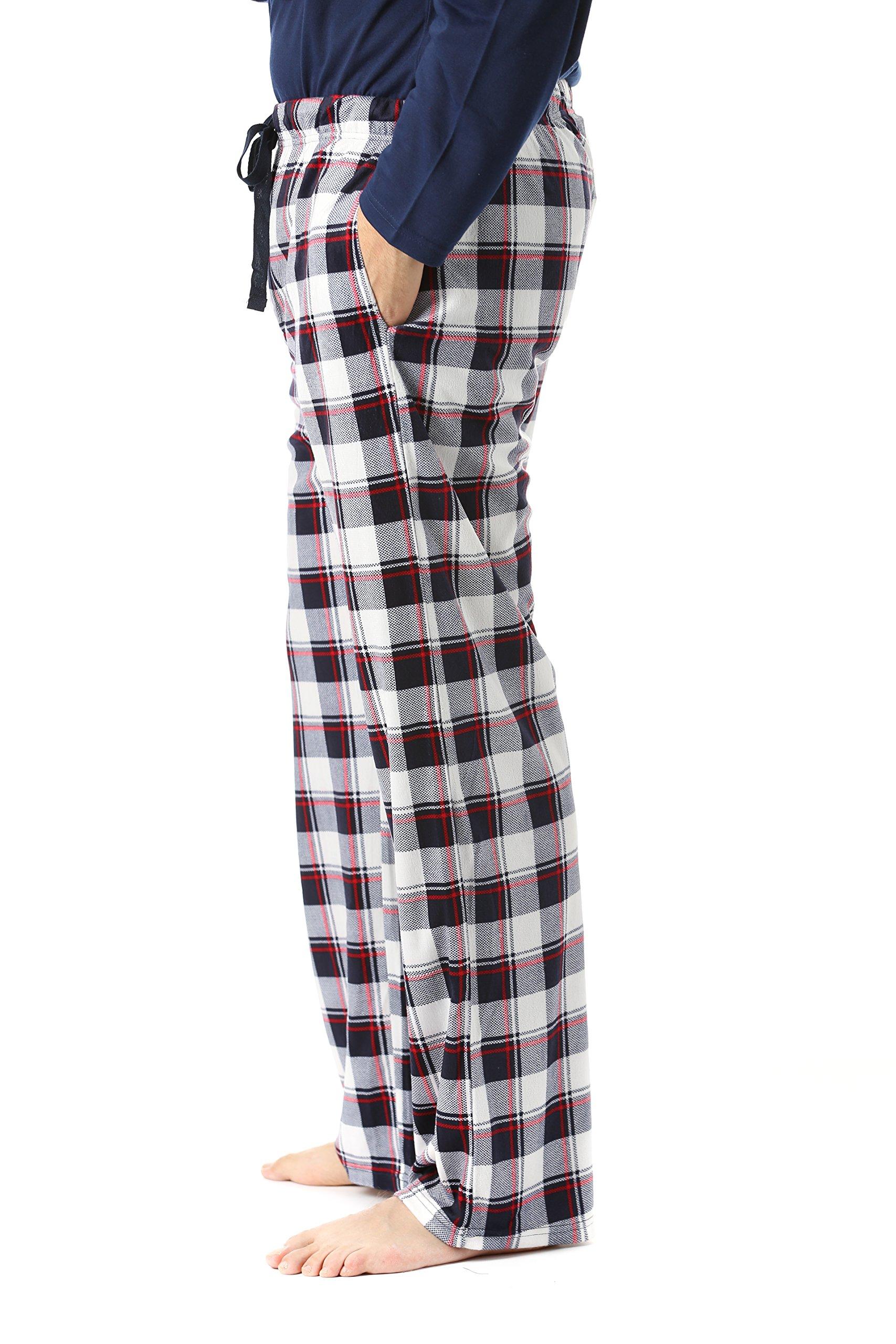 #FollowMe 45903-17-L Fleece Pajama Pants for Men/Sleepwear/PJs,Plaid 17,Large by #followme (Image #2)