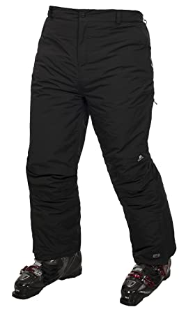 c3bbca588 Trespass Contamines, Black, 2/3, Warm Padded Waterproof Ski Trousers with  Gaiters