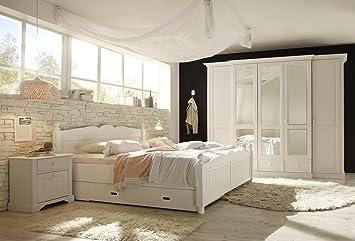 FirstLoft Schlafzimmer Holz Weiß: Amazon.de: Küche & Haushalt