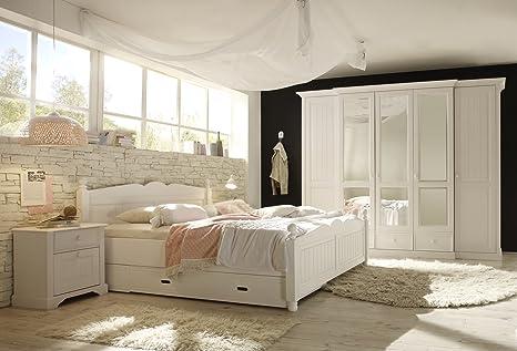 FirstLoft Schlafzimmer, Holz, Weiß: Amazon.de: Küche & Haushalt