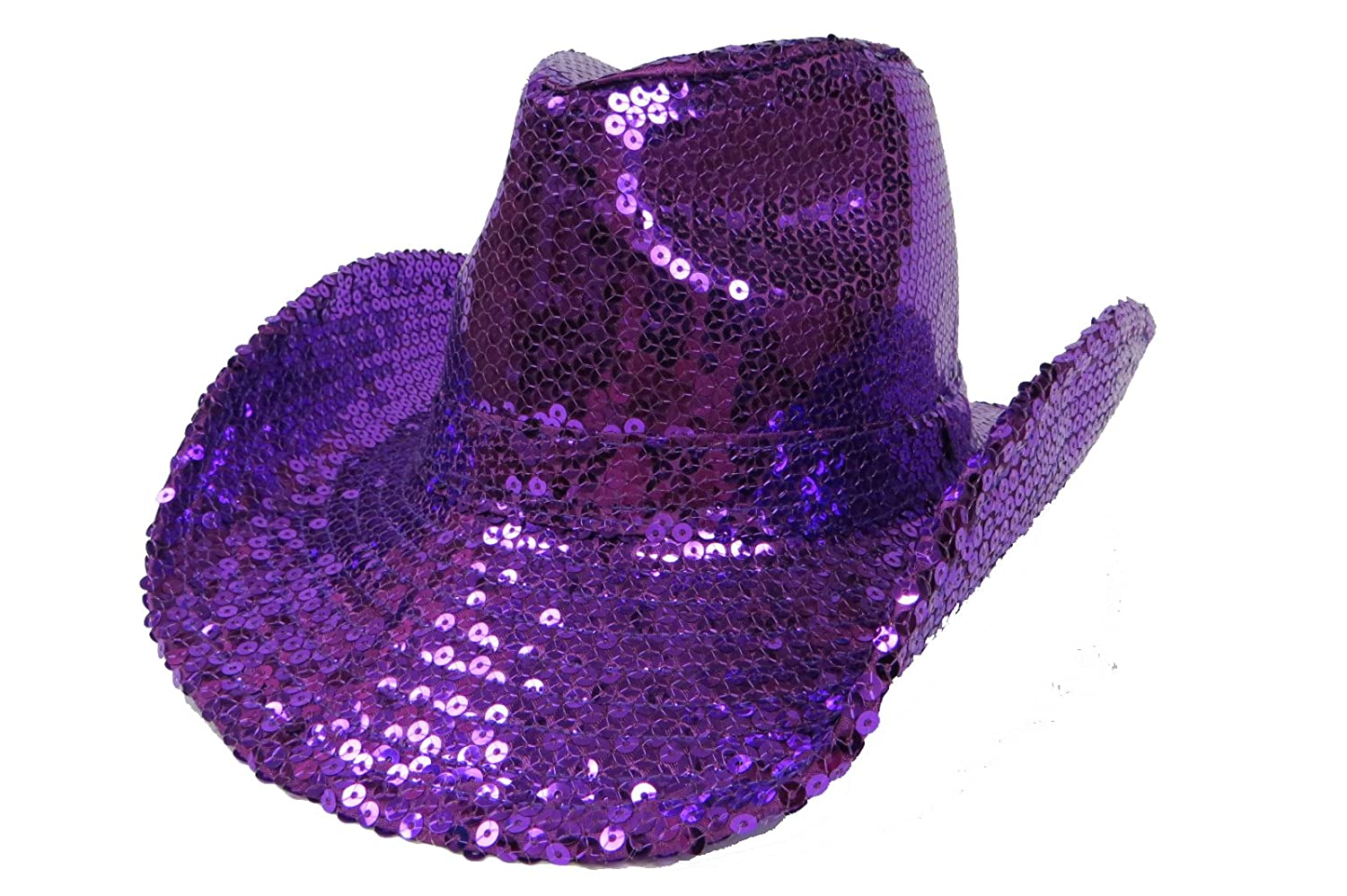 Sequin Covered Western   Purple   Red Hat Lady Society at Amazon Women s  Clothing store  Cowboy Hats 5e1ba700a920