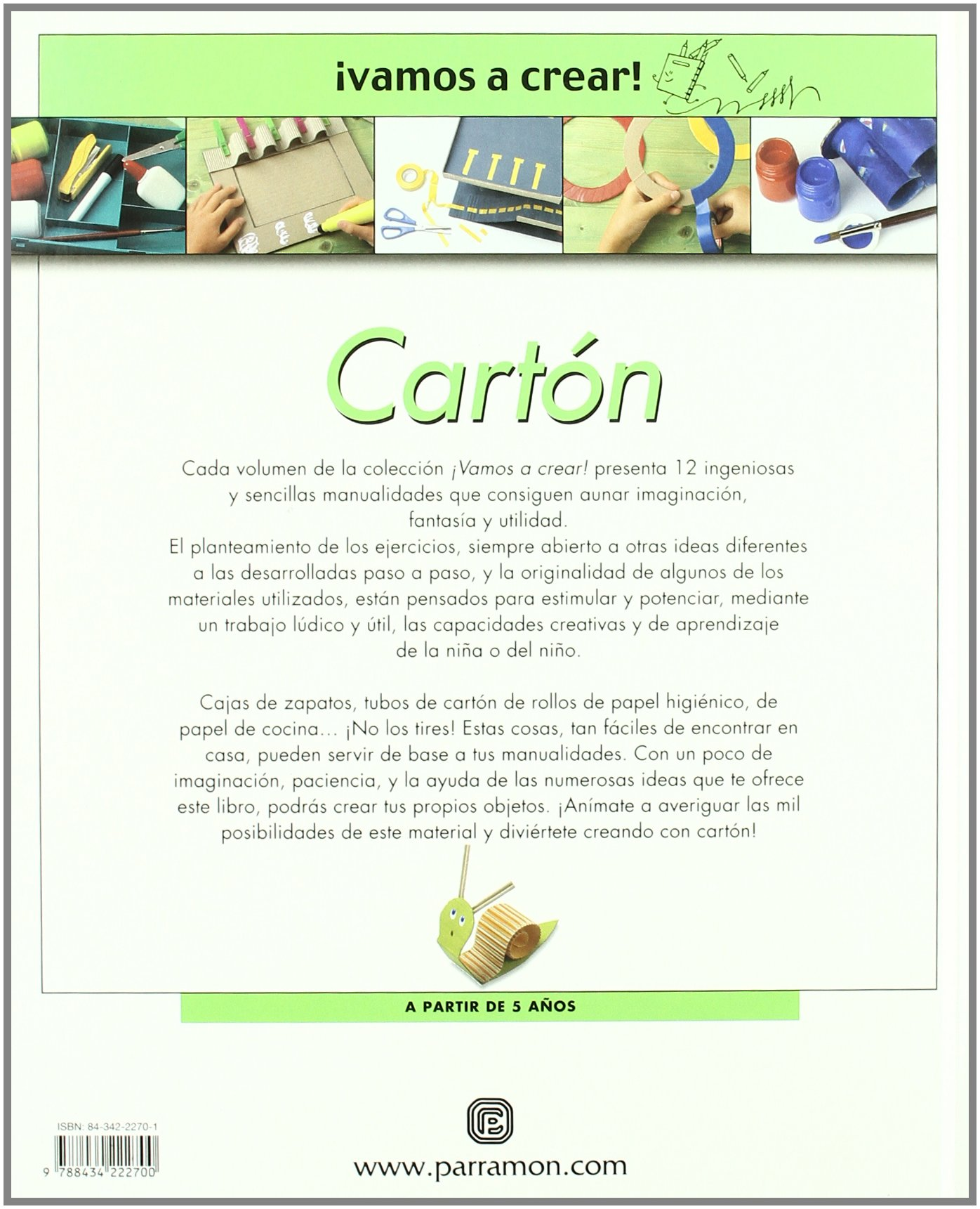 Cartón. vamos a crear (Spanish Edition): Parramon: 9788434222700: Amazon.com: Books