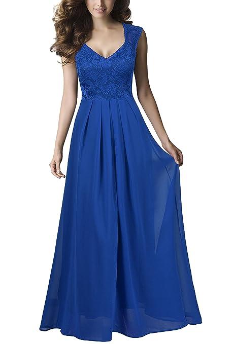 rephyllis mujeres Sexy Vintage fiesta boda dama de honor vestido de cóctel formal - Azul - M: Amazon.es: Ropa y accesorios
