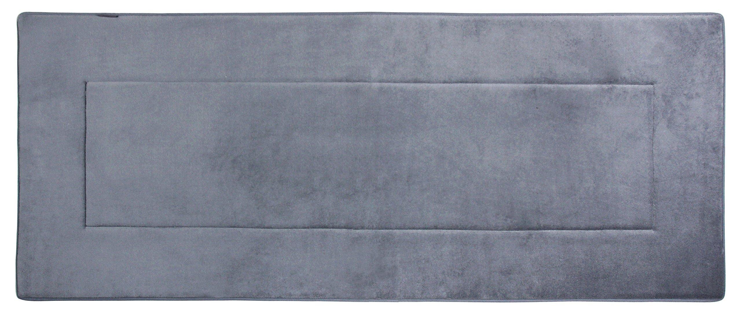 Fabbrica Home Ultra-Soft HD Memory Foam Runner (2 feet by 5 feet) (Slate Gray)