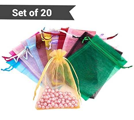 TIED RIBBONS Organza Bags
