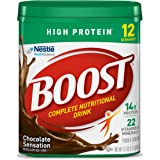 Boost High Protein Powder Drink Mix, Chocolate Sensation, 17.7 Ounce Canister, 4 pack