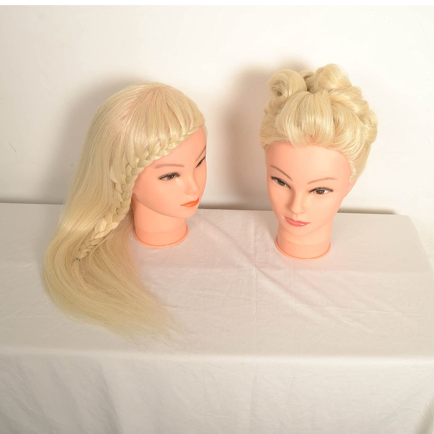 (Li 613) styling Head Doll Kits,cosmetology Mannequin Heads Training Practice Styling Cutting Mannequin Head+clamp elite