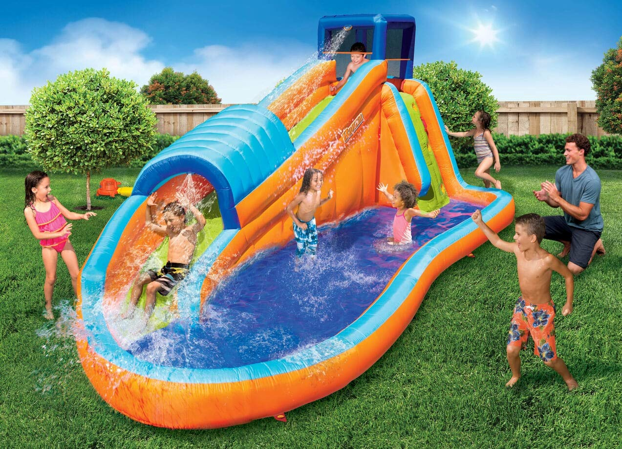 BANZAI 90330 Surf Rider Inflatable Backyard Outdoor Water Park with Blow Motor by BANZAI (Image #2)