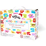 Match and Learn Alphabet Recognition Self-Correcting Educational Puzzles for Uppercase and Lowercase Alphabets with Bonus Blank Puzzle Pieces and Stickers for preschoolers and toddlers - Ages 3+