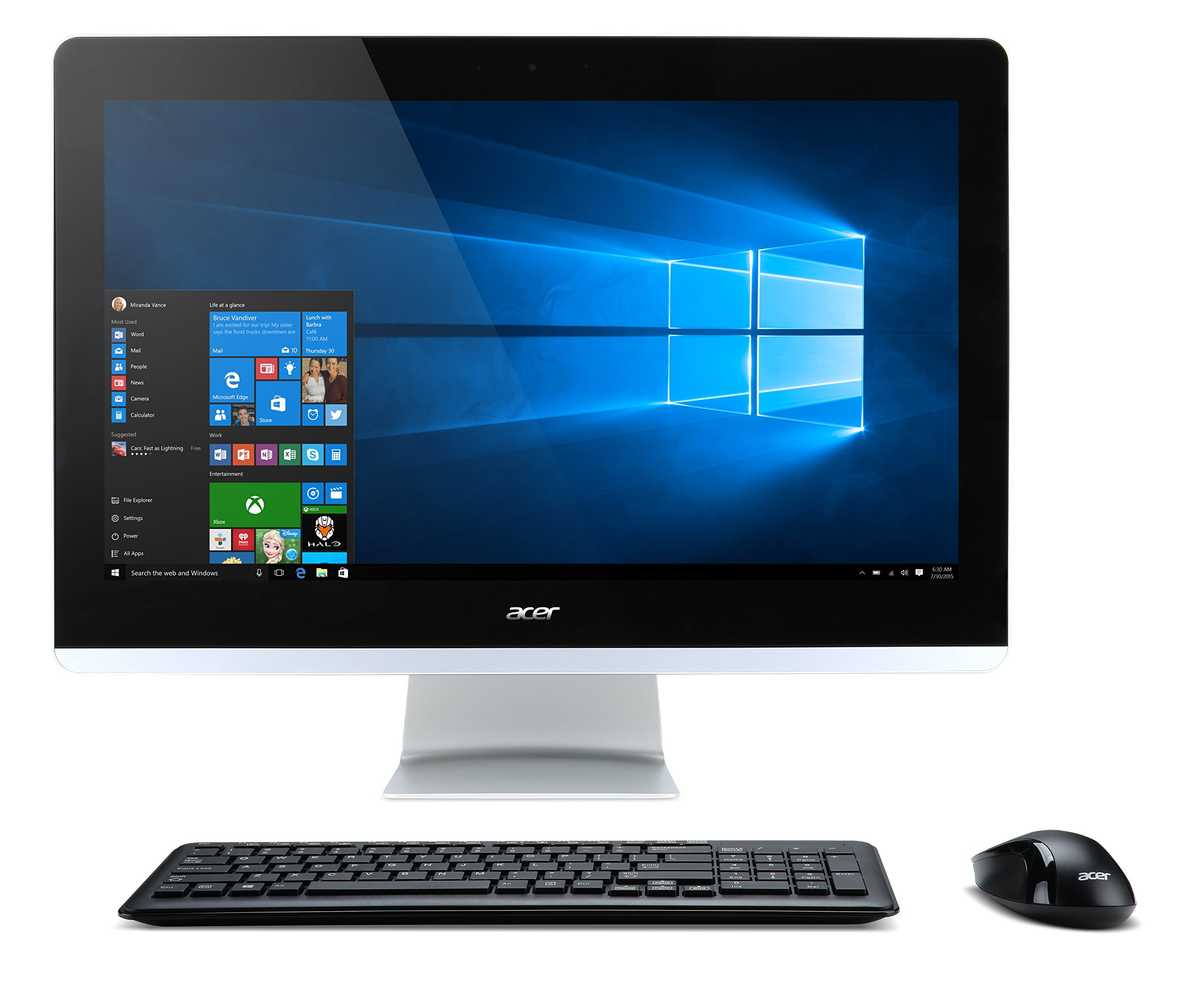 """Amazon.com: Acer Aspire AIO Touch Desktop, 23.8"""" Full HD Touch,"""