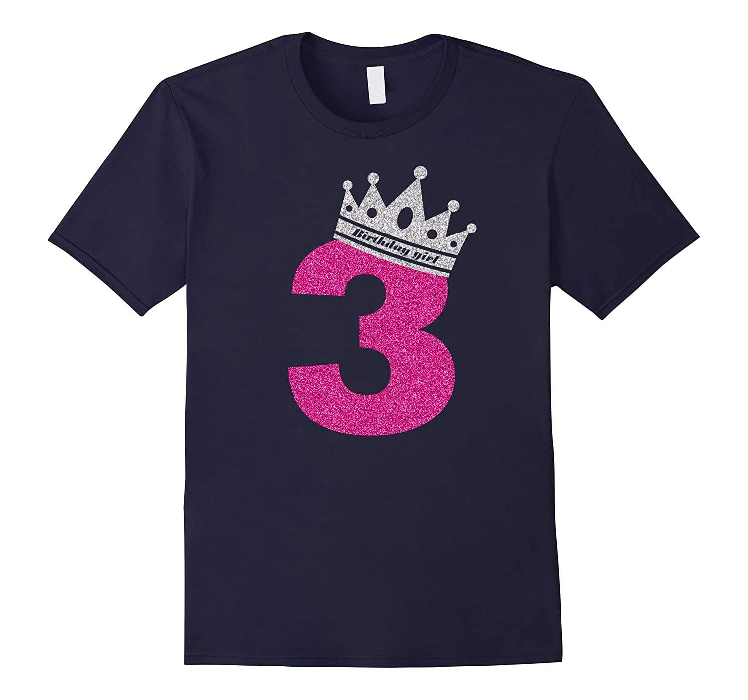 3rd Birthday Shirt Girl Princess - Happy Birthday Girl Shirt-Rose