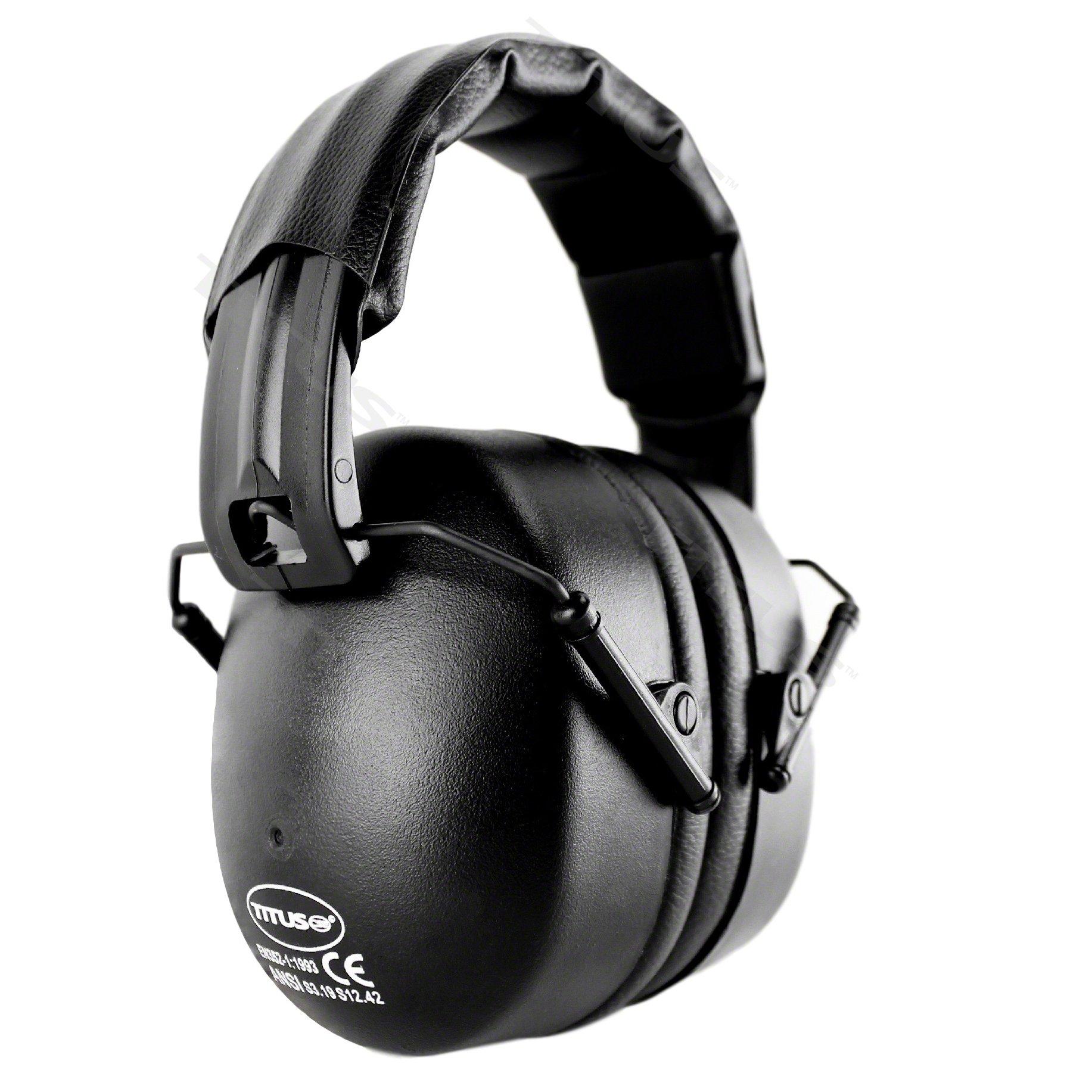 Titus Onyx 37 NRR - Quality Hearing Protection EarMuff (Standard, Black)