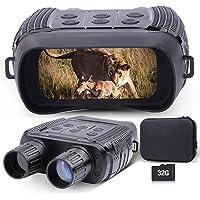Prismáticos de visión nocturna para adultos, pantalla LCD de 2,31 pulgadas, 300 m/980 ft, gafas de visión nocturna por…