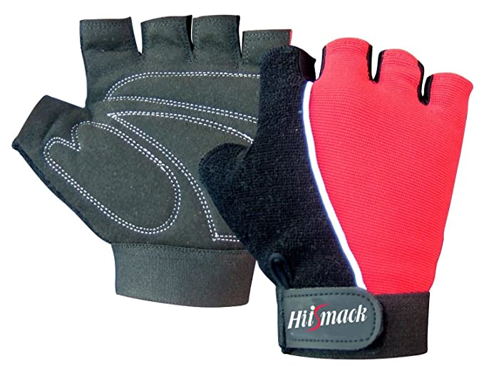 NEW LEATHER FINGERLESS GLOVES BIKERS FULL TRAINING CYCLING WHEEL CHAIR USER GYM