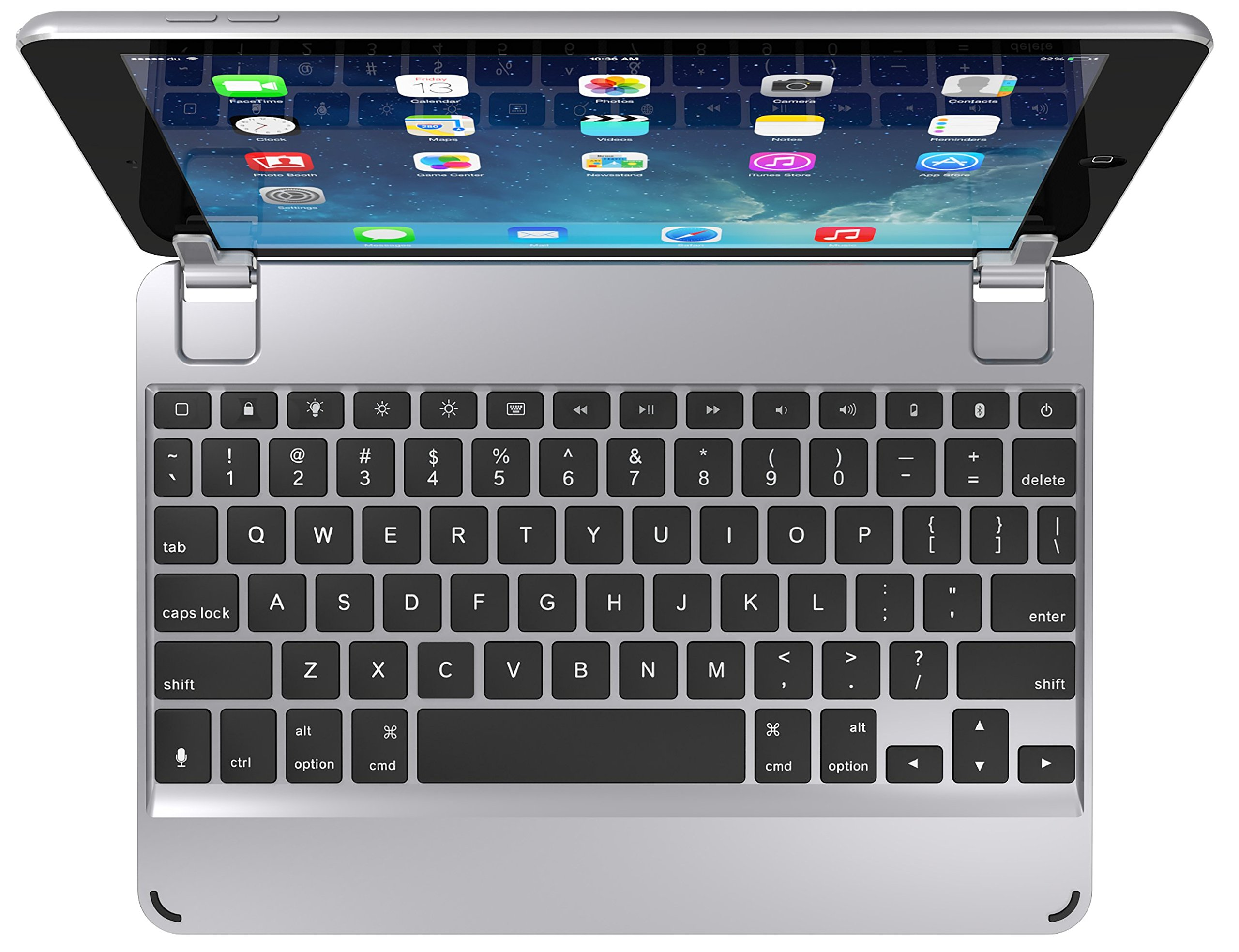Brydge 9.7 Bluetooth Keyboard for NEW Apple iPad 9.7, Pro 9.7, Air 1 & 2 (Space Gray) by Brydge
