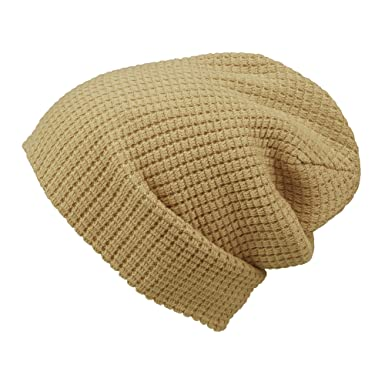 5f27abe20a3 Morehats Embossed Knit Slouchy Beanie Winter Warm Ski Skater Hip-hop Hat -  Beige