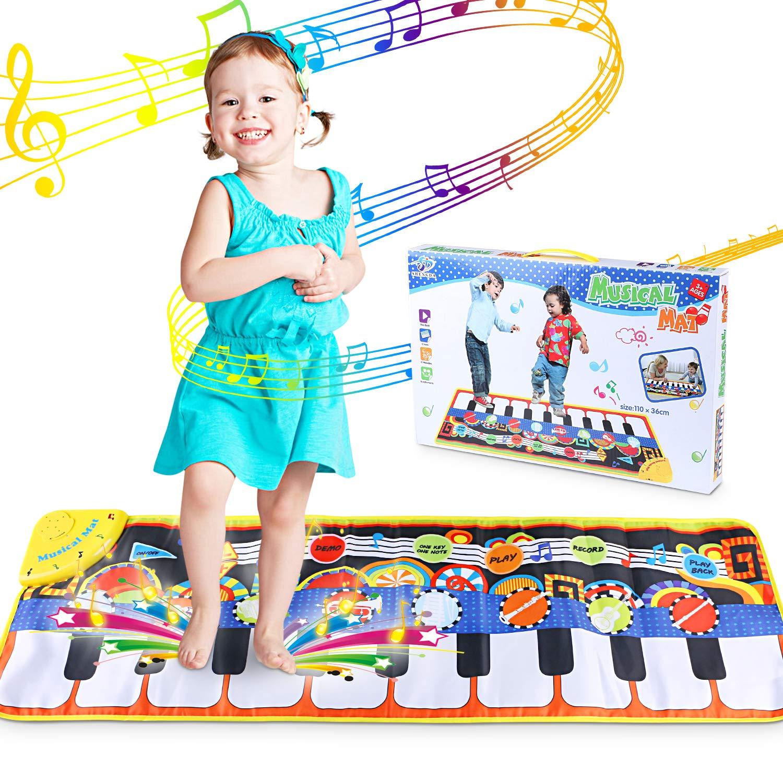 Ni/ña Regalo Ni/ño Alfombra de Teclado T/áctil Musical Touch Juego Musical Port/átil Electr/ónico Educativo Musical Tapete de Piano Teclas para Beb/é Alfombra para piano