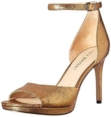 Via Spiga Women's Salina Platform Dress Sandal, Gold, ...