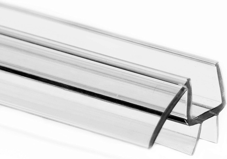 3//8/'/' Frameless Glass Shower Door Bottom Sweep Seal Strip with Rail 36/'/'