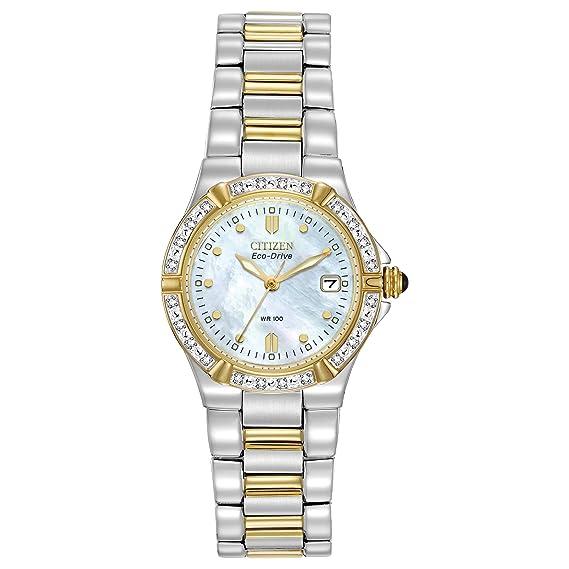 Citizen EW0894-57D - Reloj de cuarzo para mujer, correa de acero inoxidable: Amazon.es: Relojes