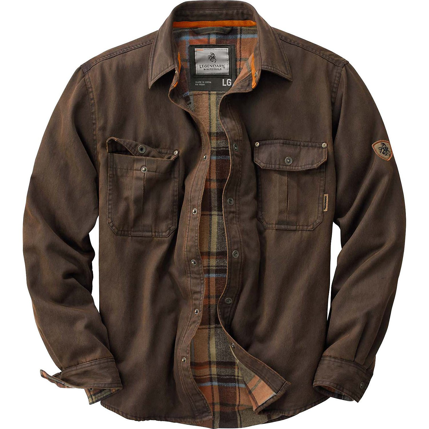 Legendary Whitetails Men's Journeyman Rugged Shirt Jacket Tobacco XX-Large